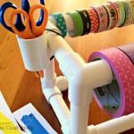 DIY PVC Pipe Tape Dispenser
