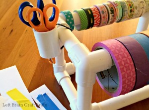 DIY PVC Pipe Tape Dispenser