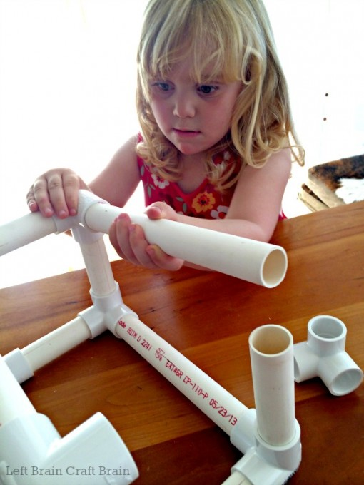 DIY PVC Pipe Tape Holder Assembly Left Brain Craft Brain