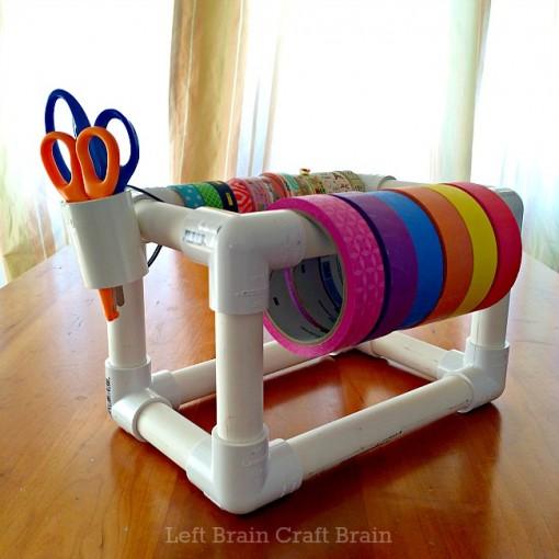 DIY PVC Pipe Tape Holder Left Brain Craft Brain