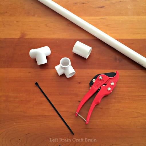 DIY PVC Pipe Tape Holder Supplies Left Brain Craft Brain