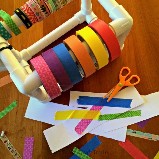 DIY PVC Pipe Tape Holder crafting Left Brain Craft Brain