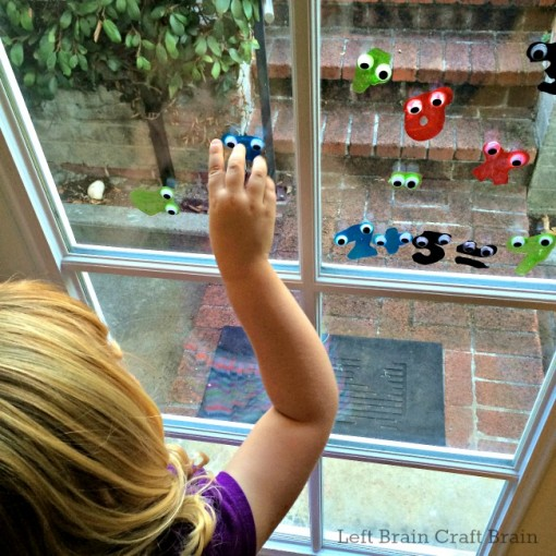 Doing Math with Googly Monster Math Window Clings Left Brain Craft Brain