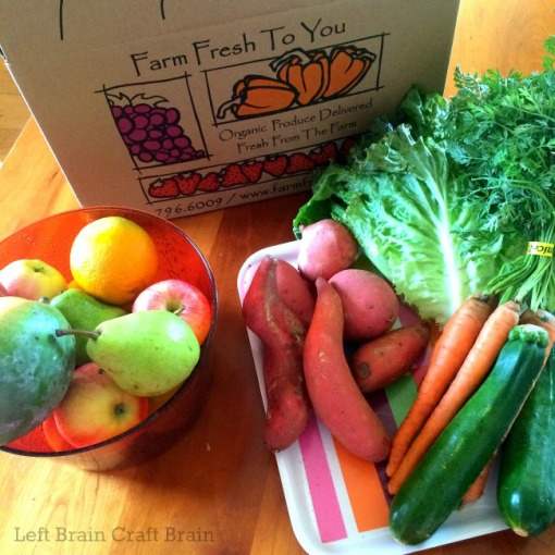 Farm Fresh to You box Left Brain Craft Brain