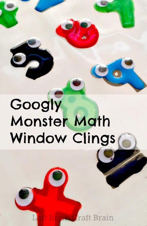 Googly Monster Math Window Clings Left Brain Craft Brain