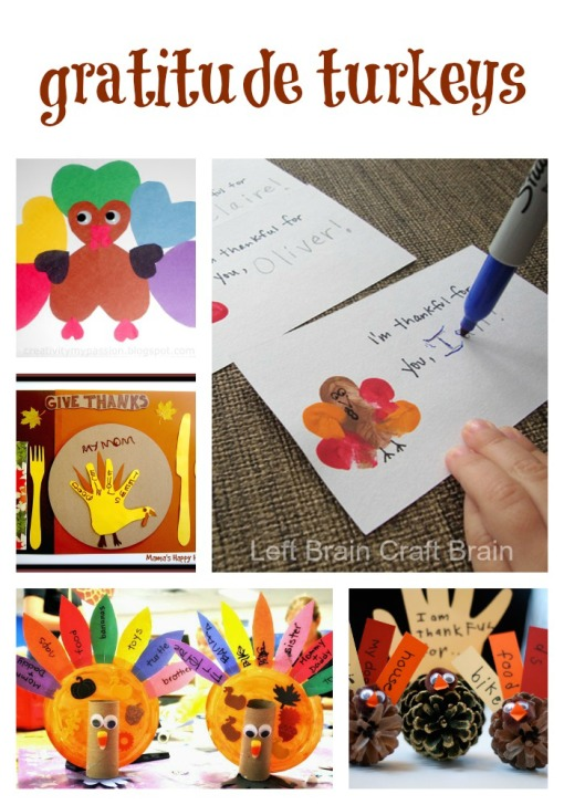 Gratitude Turkeys Left Brain Craft Brain