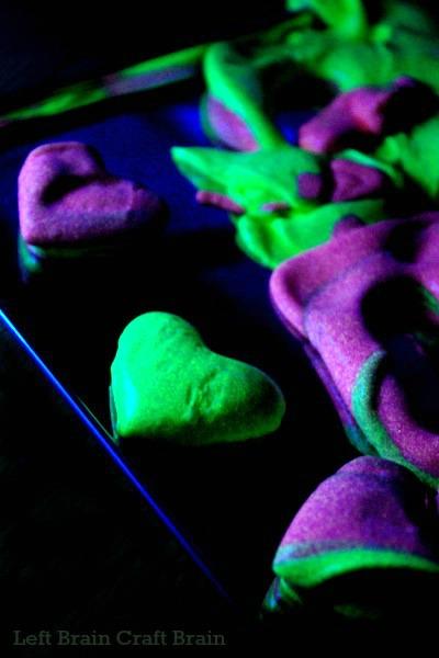 Heart Glow in the Dark Slime Left Brain Craft Brain