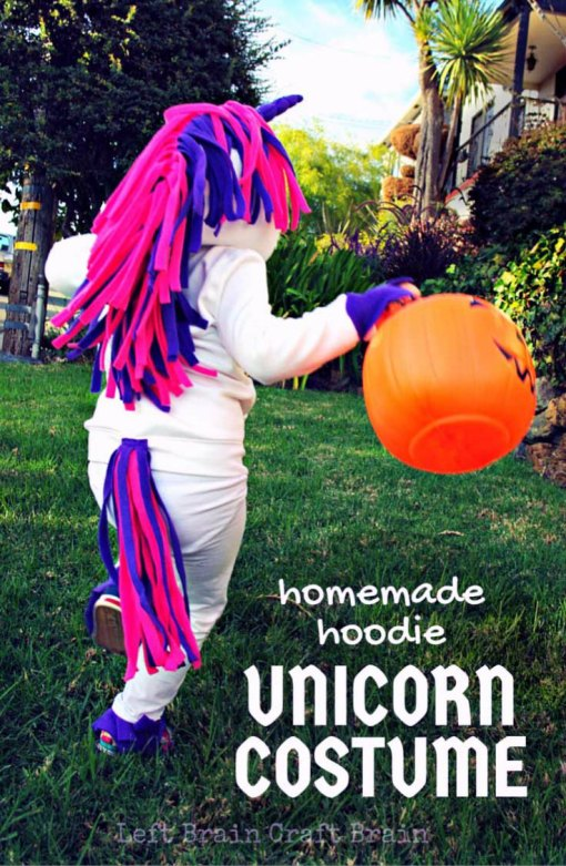 Homemade Hoodie Unicorn Costume Left Brain Craft Brain