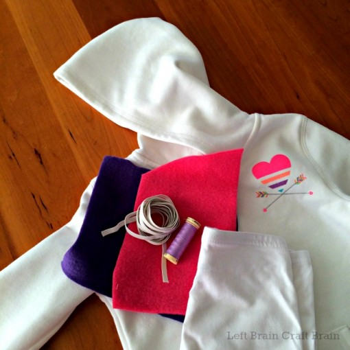 Homemade Hoodie Unicorn Costume Supplies Left Brain Craft Brain