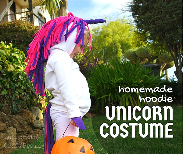Homemade Hoodie Unicorn Costume Tutorial Left Brain Craft Brain FB & Homemade Hoodie Unicorn Costume - Left Brain Craft Brain