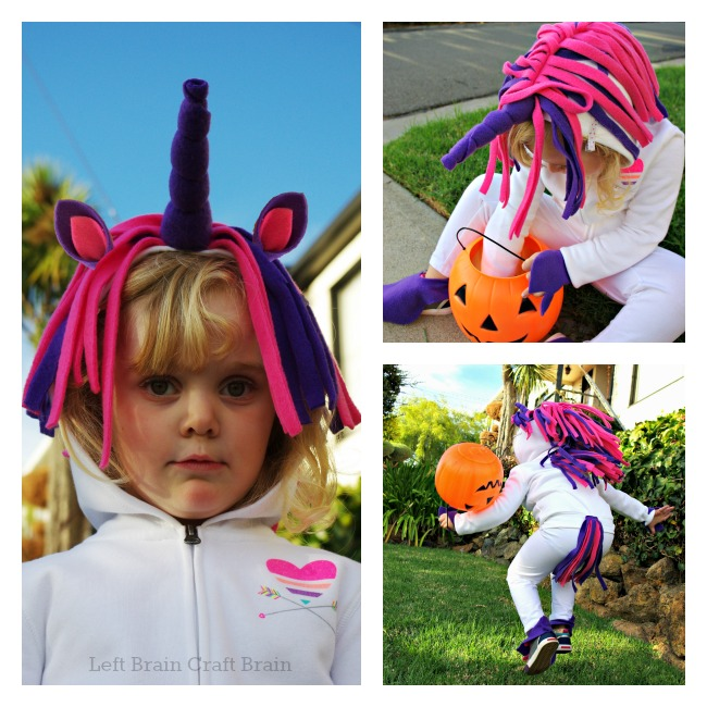 Hoodie Unicorn Costume Collage Left Brain Craft Brain