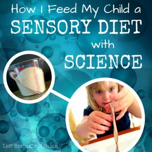 How I Feed My Child a Sensory Diet with Science Left Brain Craft Brain FB