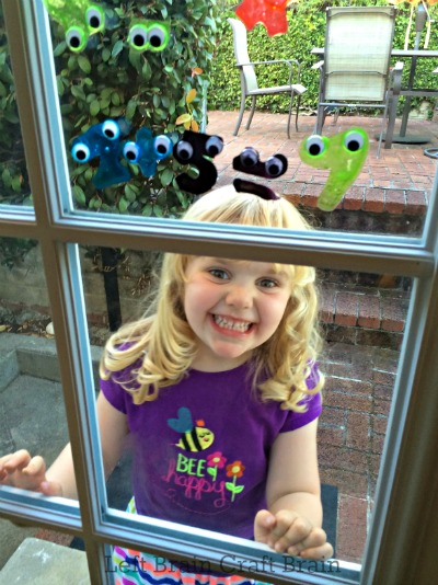 In the Window Googly Monster Math Window Clings Left Brain Craft Brain