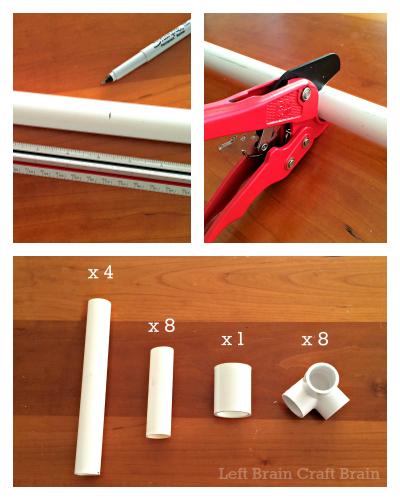 Measure and Cut PVC Tape Holder Left Brain Craft Brain