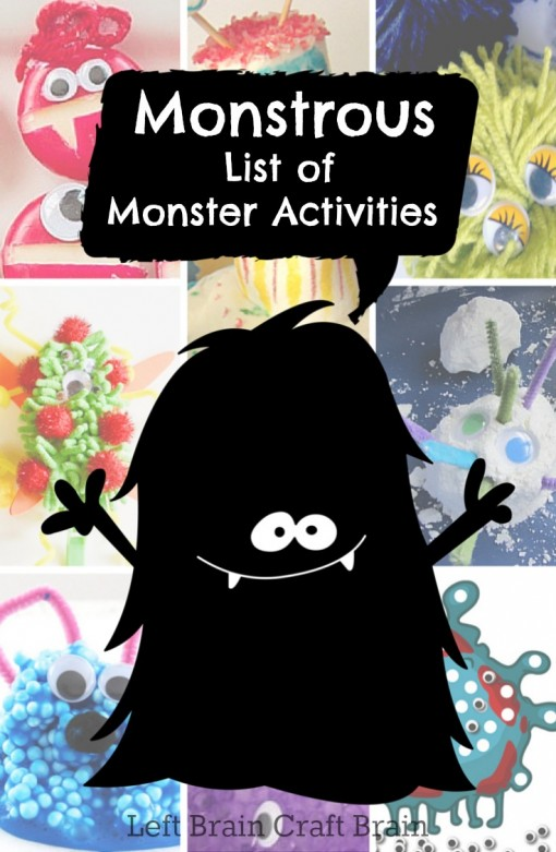 Monstrous List of Monster Activities Left Brain Craft Brain
