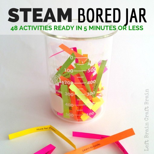 STEAM Bored Jar Science Tech Engineering Art Math Activities Left Brain Craft Brain FB