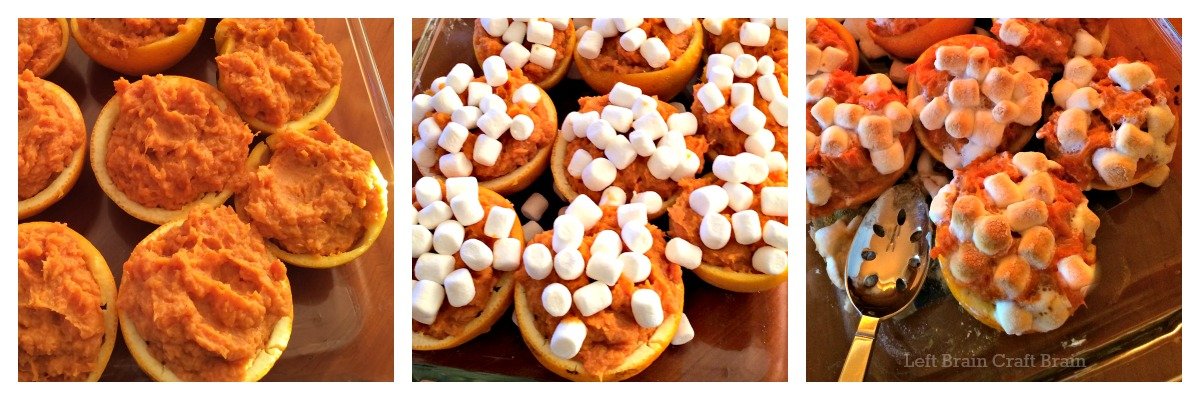 Sweet Potatoes in Orange Cups Recipe Collage Left Brain Craft Brain