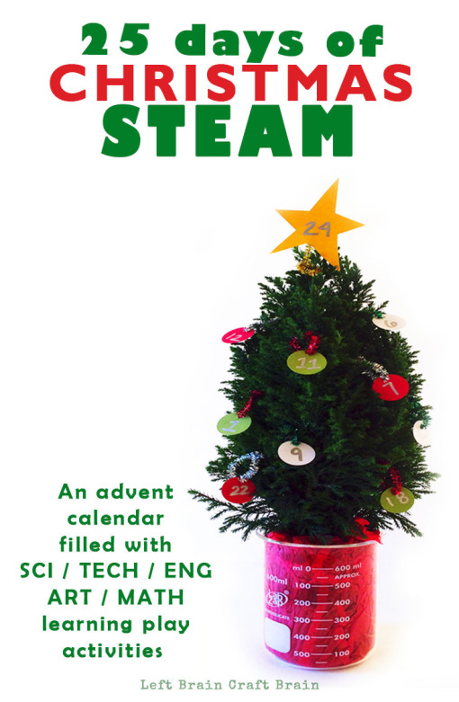 25 Days of Christmas STEAM Activities Advent Calendar Left Brain Craft Brain