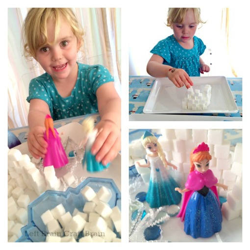 Building and Playing Elsa's Ice Palace Left Brain Craft Brain