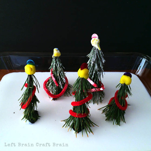 Christmas Trees in Oobleck Snow Left Brain Craft Brain 2