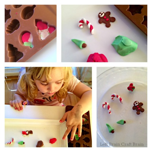 DIY Christmas Eraser Mold and Bake Left Brain Craft Brain