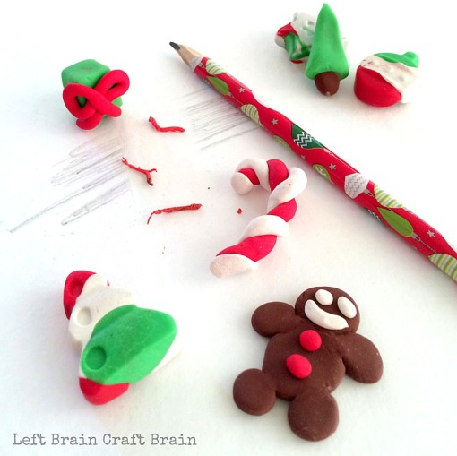 DIY Christmas Erasers Left Brain Craft Brain FB