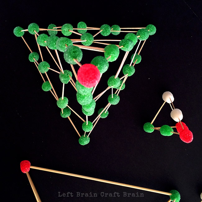 invitation to build gumdrop christmas trees left brain craft brain