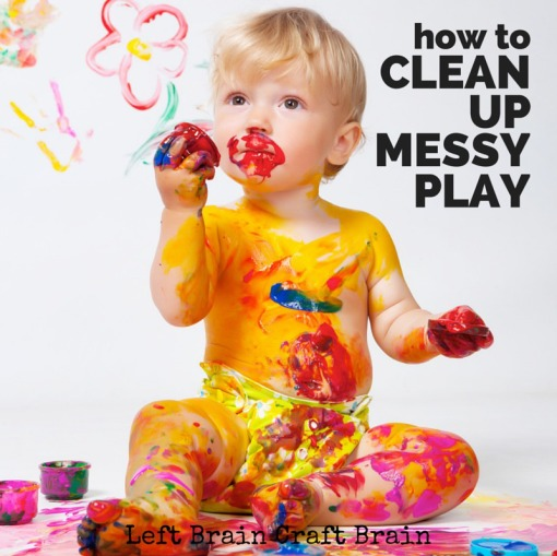 How to Clean Up Messy Play Left Brain Craft Brain FB