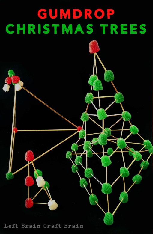 Invitation to Build Gumdrop Christmas Trees Left Brain Craft Brain pin3