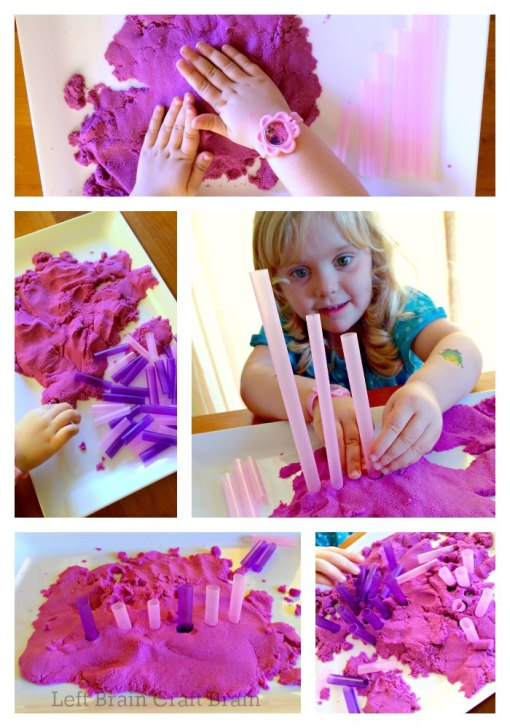 Kinetic Sand Sorting and Pattern Recognition Left Brain Craft Brain
