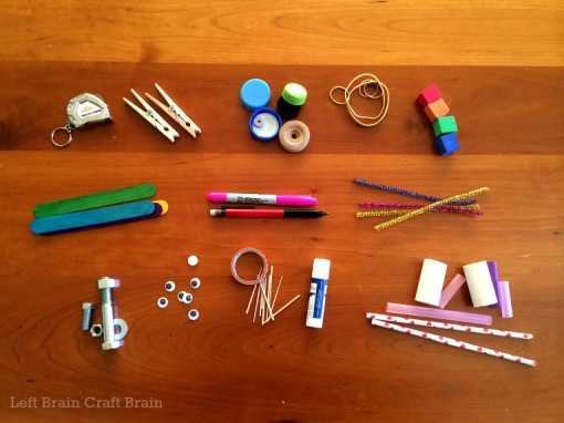 Portable Tinkering Kit for Preschoolers Contents Left Brain Craft Brain