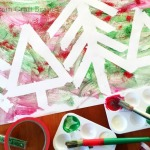 Five Minute Crafts – Tape Resist Glitter Forest