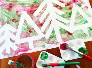 Five Minute Crafts – Tape Resist Glitter Forest