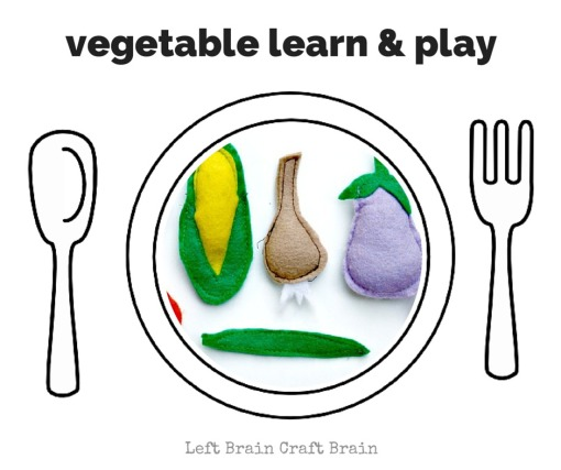 Vegetable Learn and Play Left Brain Craft Brain