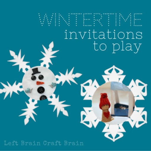 Wintertime Invitations to Play Left Brain Craft Brain FB