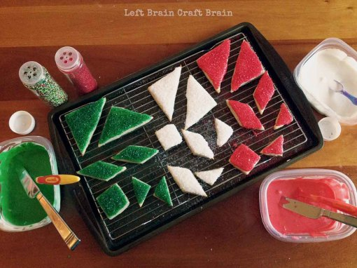 Frosted Tangram Christmas Cookies Left Brain Craft Brain