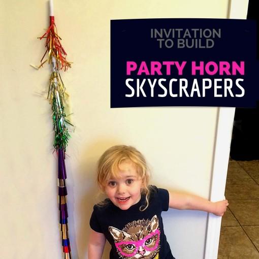 Invitation to Build Party Horn Skyscrapers Left Brain Craft Brain FB
