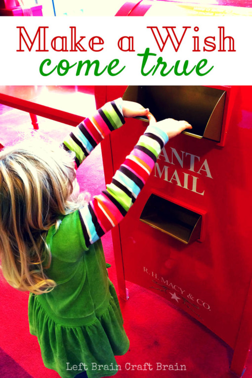 Helping make a sick child's wish come true is as easy as writing a letter to Santa, because Macy's will donate $1 to Make-A-Wish for every Santa letter shared. #sp