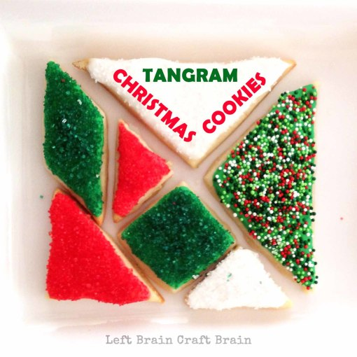 Tangram Christmas Cookies Left Brain Craft Brain FB