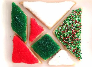 Tangram Christmas Cookies
