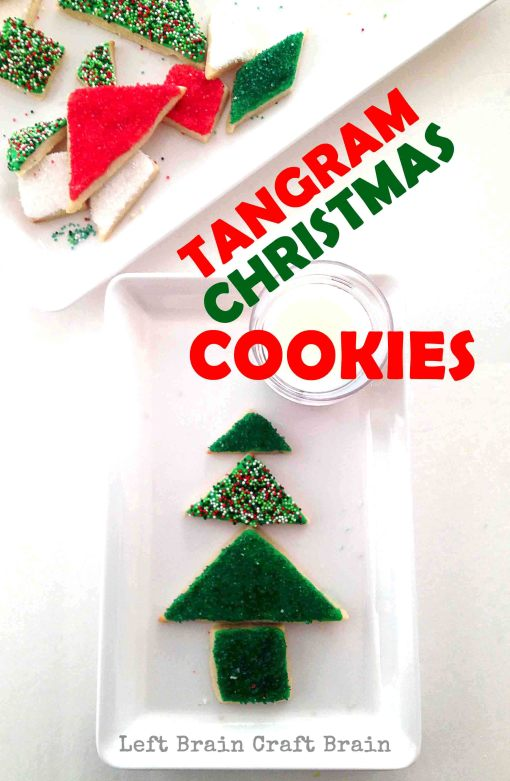 Tangram Christmas Cookies Left Brain Craft Brain pin2