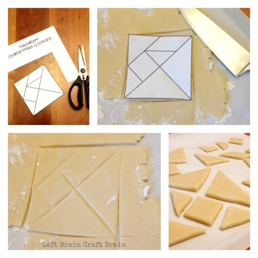 Tangram Christmas Cookies Roll and Cut Left Brain Craft Brain