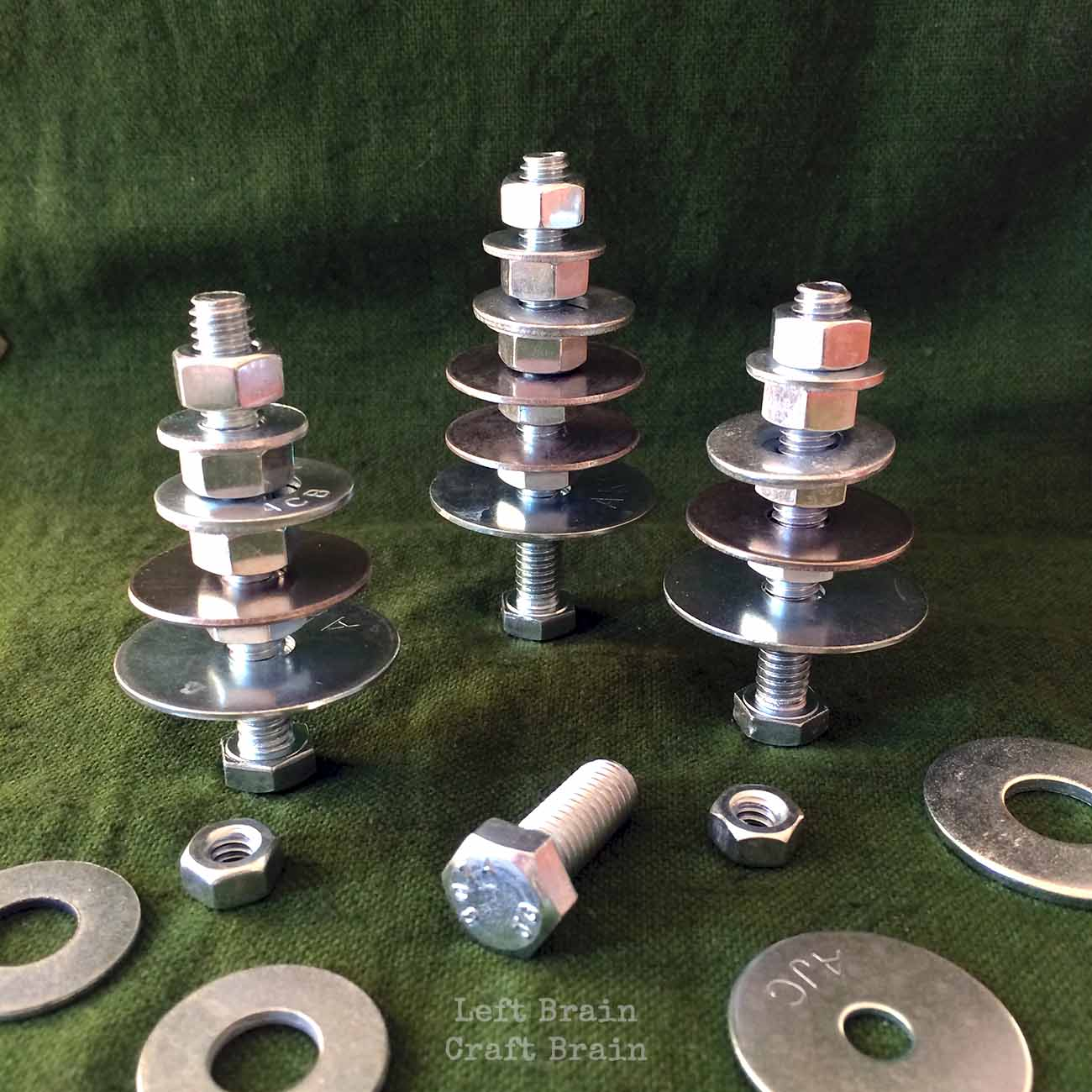 Pictures Of Nuts And Bolts >> Invitation to Build: Tinkering Trees - Left Brain Craft Brain