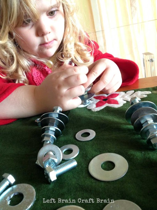 Tinkering Trees with Nuts and Bolts Concentrating Left Brain Craft Brain
