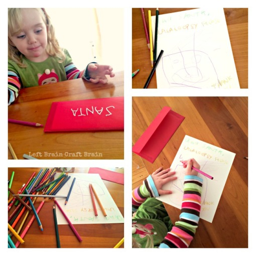 Writing Santa a Letter Left Brain Craft Brain