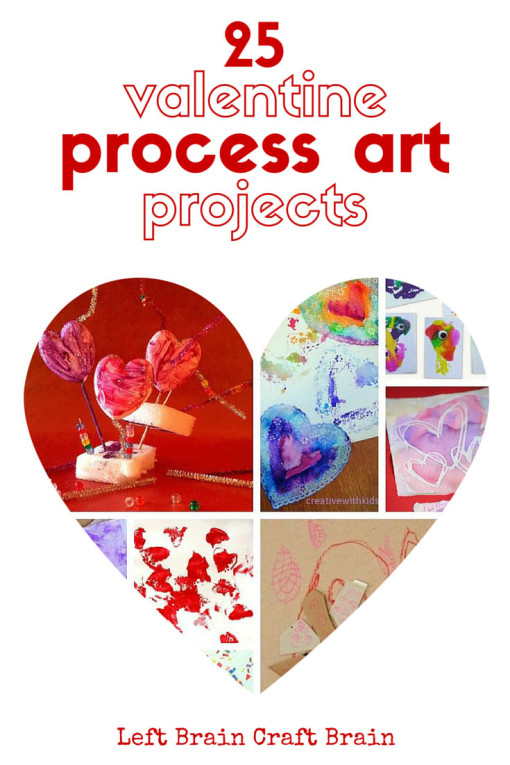 25 Valentine process art projects give kids a chance to explore their artistic side in an open-ended fun to do way.