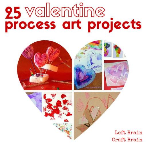 25 Valentine Process Art Projects Left Brain Craft Brain FB
