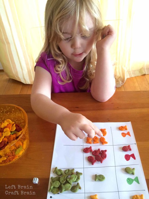 Counting Goldfish Crackers Left Brain Craft Brain