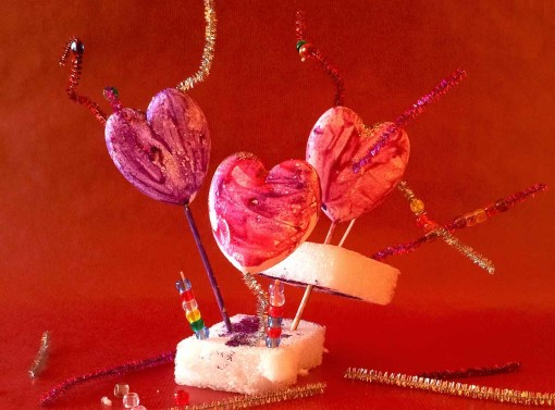 Free Form Valentine Sculpture for Kids Left Brain Craft Brain featured