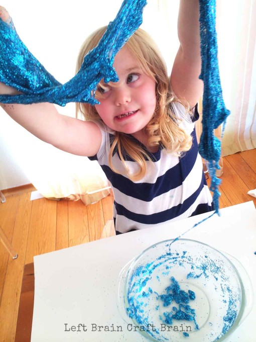Glitter SLime Hanging Out Left Brain Craft Brain